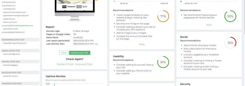 WebsiteChecker – Comprehensive web analytics & monitoring made easy