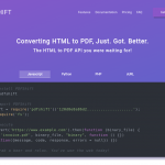 PDFShift – Convert any HTML documents to PDF under 5 lines of code.