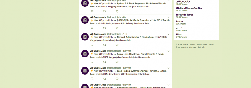 All Crypto Jobs – Every single crypto job aggregated into one simple feed – Updates hourly.