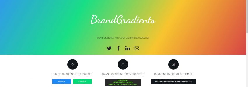 Brand Gradients – Natural, Brand, & Color Gradients in CSS & Image Backgrounds