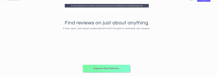 IReview.net – Centralized user reviews. Stop wasting your time crawling the web.