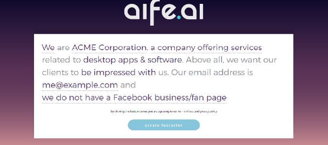 AÍFE.AI – Launch big digital footprints in 60 seconds.