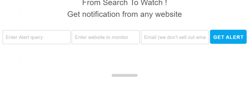Alertfor – Get notification from any website – Automate your search.