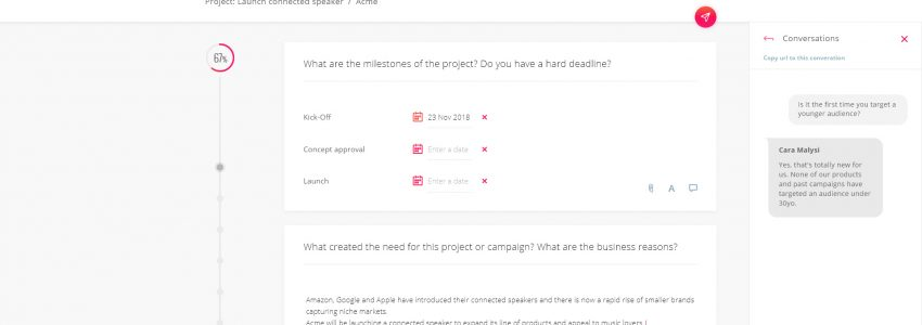 Volve – A web application to create and share collaborative briefs