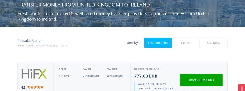 Wirecompare – Robust Money Transfer Comparison